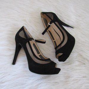 Nine West Pumps Shoes Size 9.5M Platform High Heel